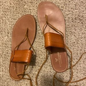 Leather sandals! Like new! Size 10!